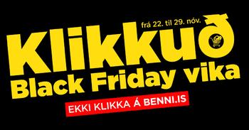 Klikkuð Black Friday vika frá 22. – 29. nóvember.