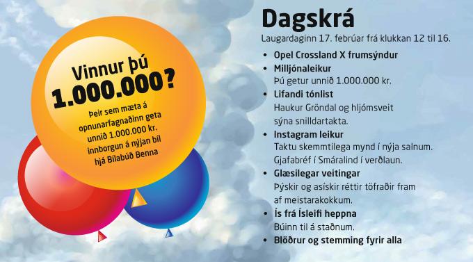 opnunarfagnaður dagskrá